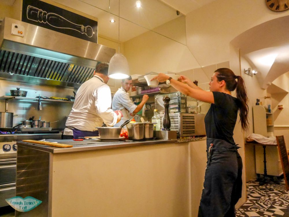 open kitchen olive and artichaut restaurant old town nice south of france | Laugh Travel Eat