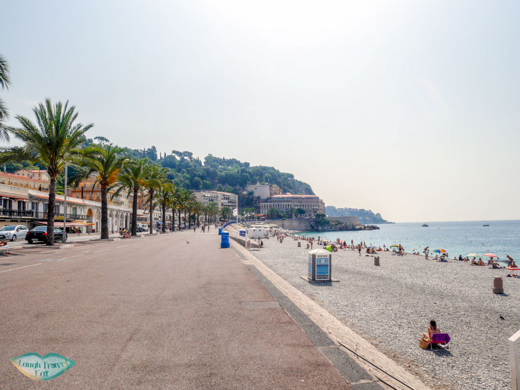 promenade des anglais Nice south of france | Laugh Travel Eat