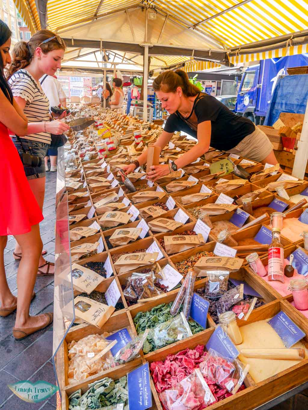 soaps at old town market nice south of france | Laugh Travel Eat