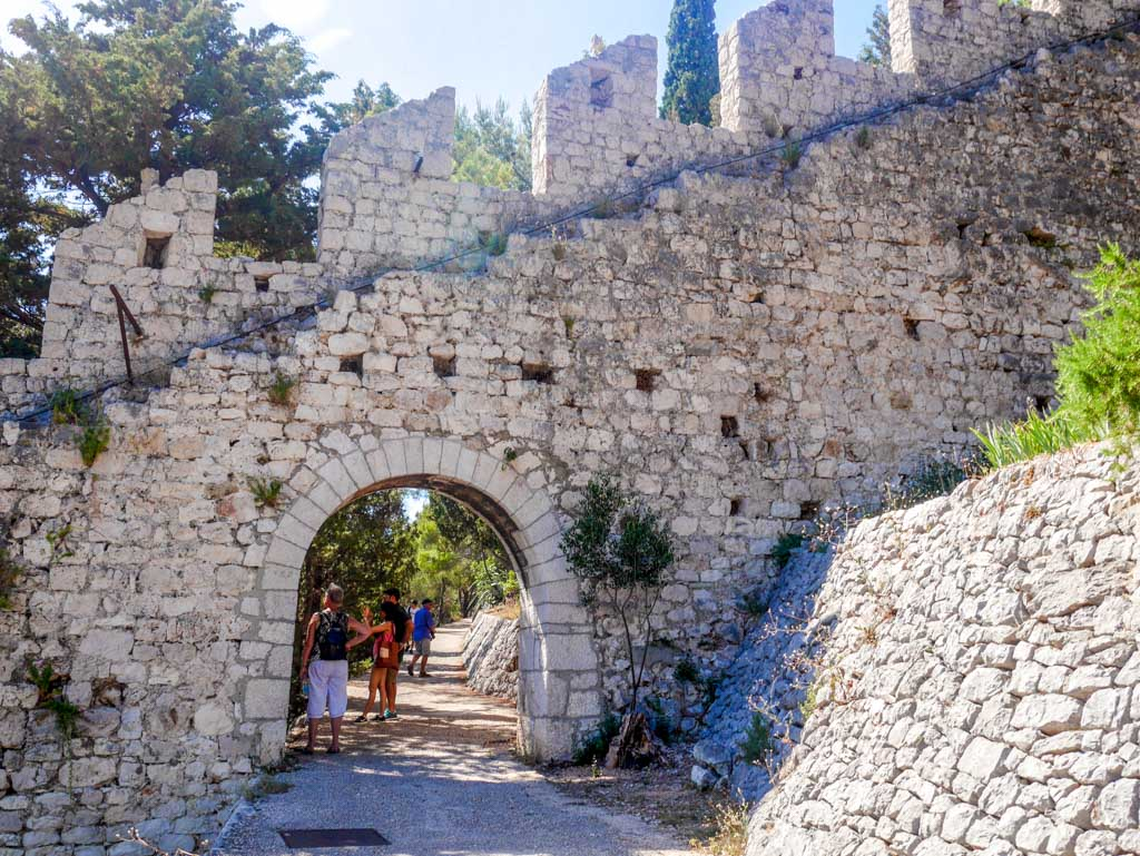 spanish fort old walls hvar town hvar croatia