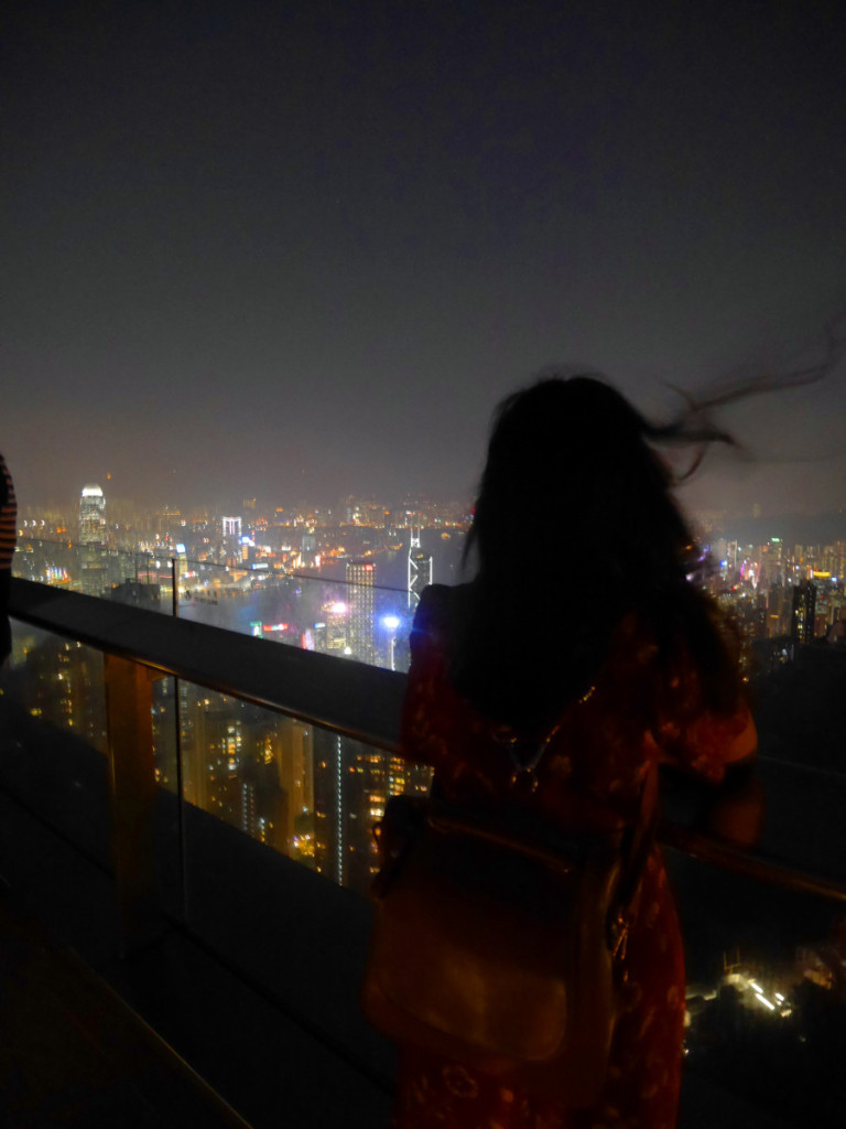 Watching the Victoria Harbour on the Peak, Hong Kong