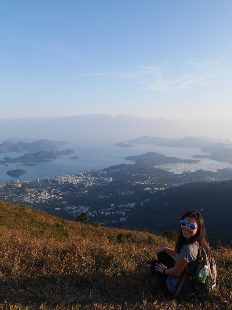Hiking deep in the mountains next to Ma On Shan, Hong Kong