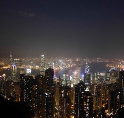 Stunning Night view of Hong Kong from the Peak | Laugh Travel Eat