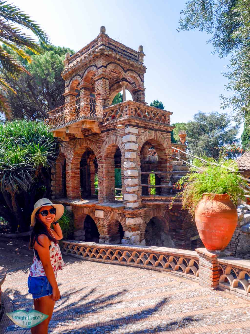 One of the interesting architecture within the communal garden in Taormina | Laugh Travel Eat