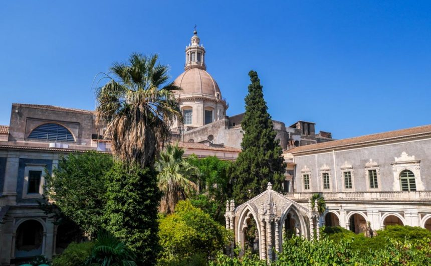 Court yard at the University of Catania from the first floor | Laugh Travel Eat