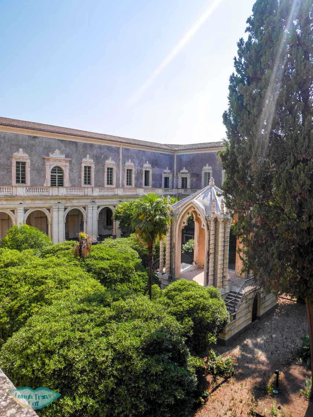 Hidden garden within the Benedictine Monastery in Catania, Sicily | Laugh Travel Eat