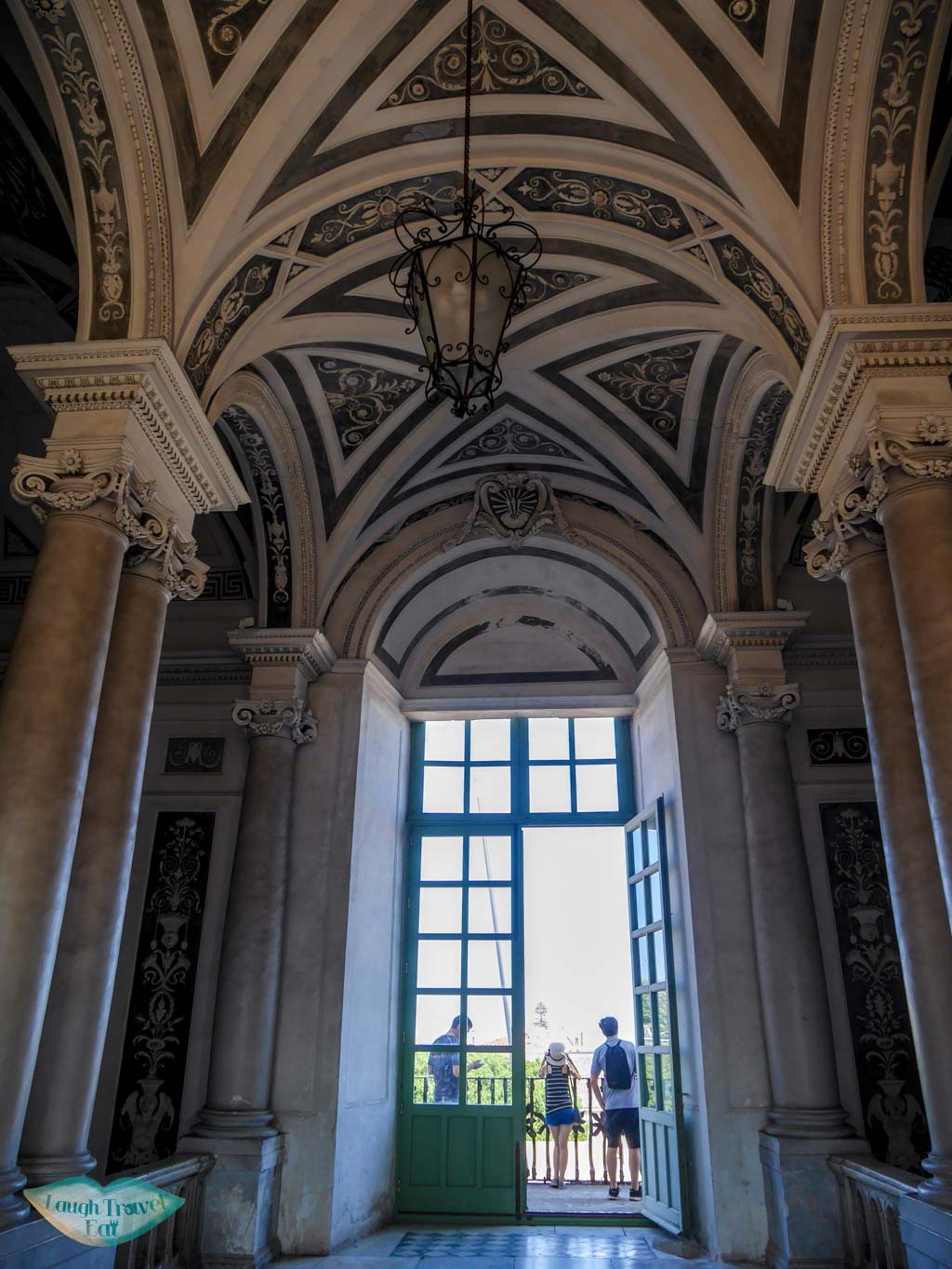 Beautiful ceiling and interior decoration of the Benedictine Monastery | Laugh Travel Eat