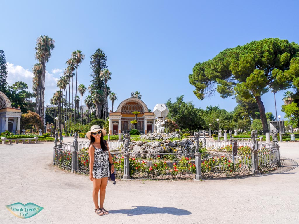 landscape within Villa Giulia in Palermo Park | Laugh Travel Eat
