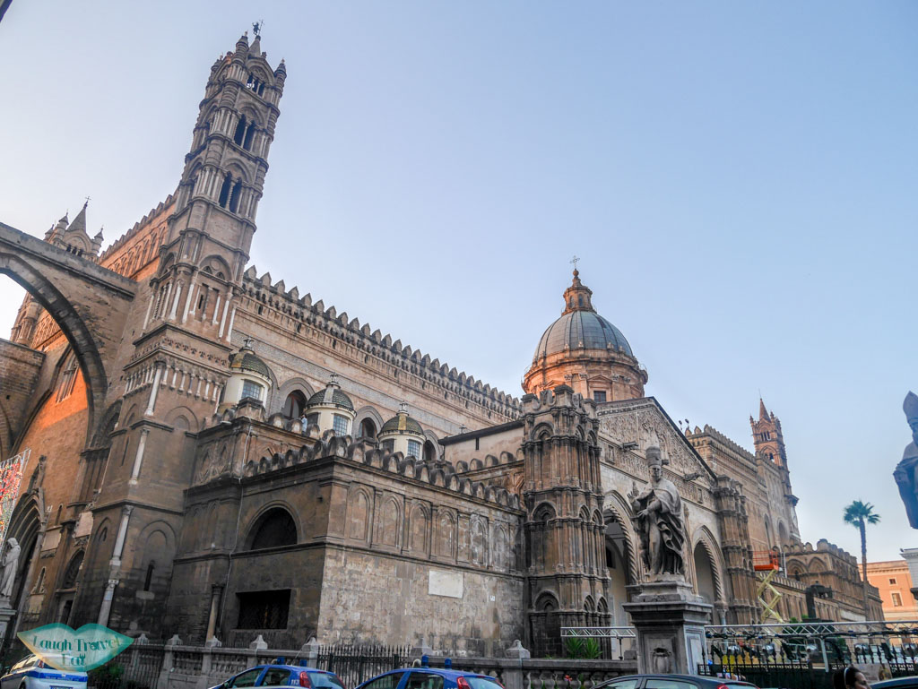 side view of the palermo duomo in Palermo | Laugh Travel Eat