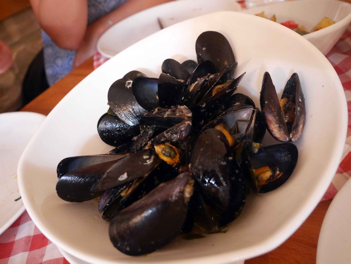 Mussels at Konoba Marja Split, Croatia