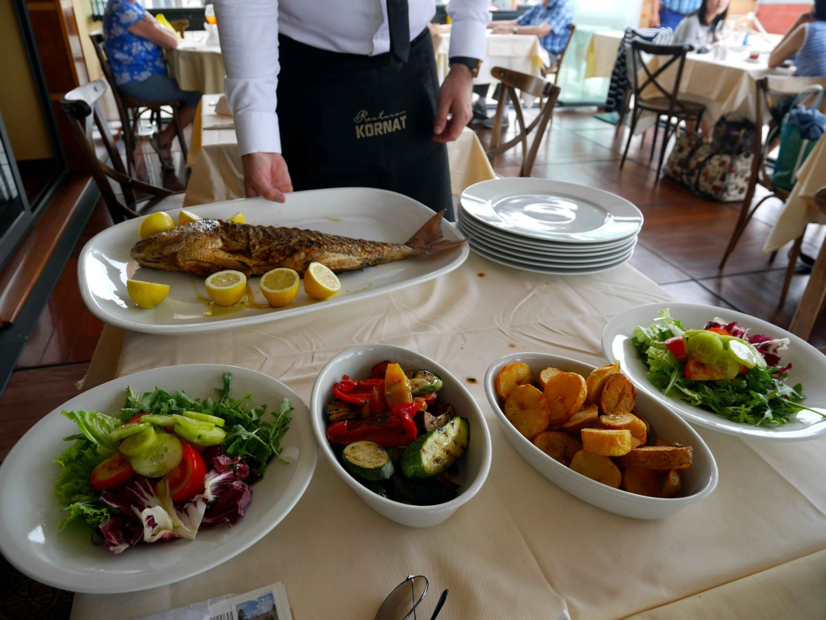 Catch of the day at Restaurant Kornat, Zadar, Croatia