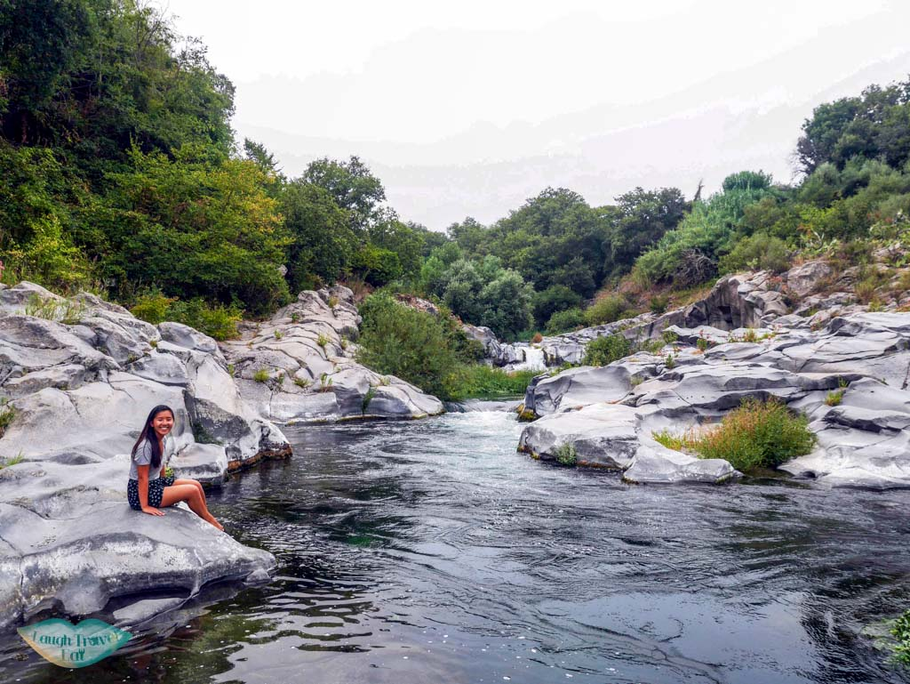 Enjoying the peaceful Gurne at Alicantara river, Catania, Sicily | Laugh Travel Eat