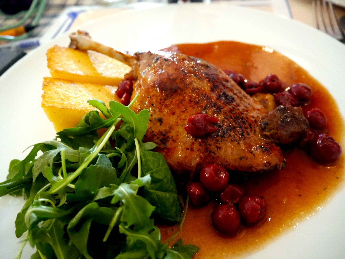Duck confit at Restaurant Julija, Ljubljana, Slovenia | Laugh Travel Eat