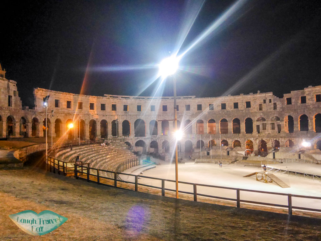 night-inside-pula-arena-Pula-Croatia-Laugh-Travel-Eat
