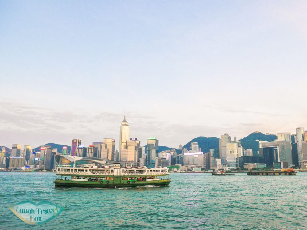 star ferry victoria harbour hong kong - laugh travel eat