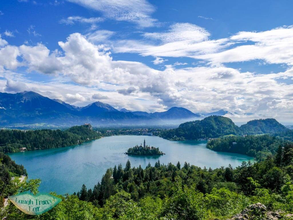 The stunning panorama view of Lake Bled, Slovenia | Laugh Travel Eat