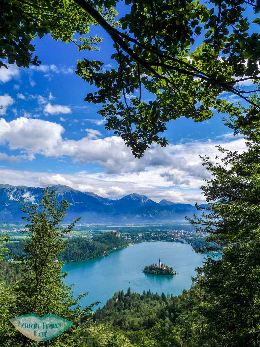 View of Lake Bled along the hiking trail through Ojstrica | Laugh Travel Eat
