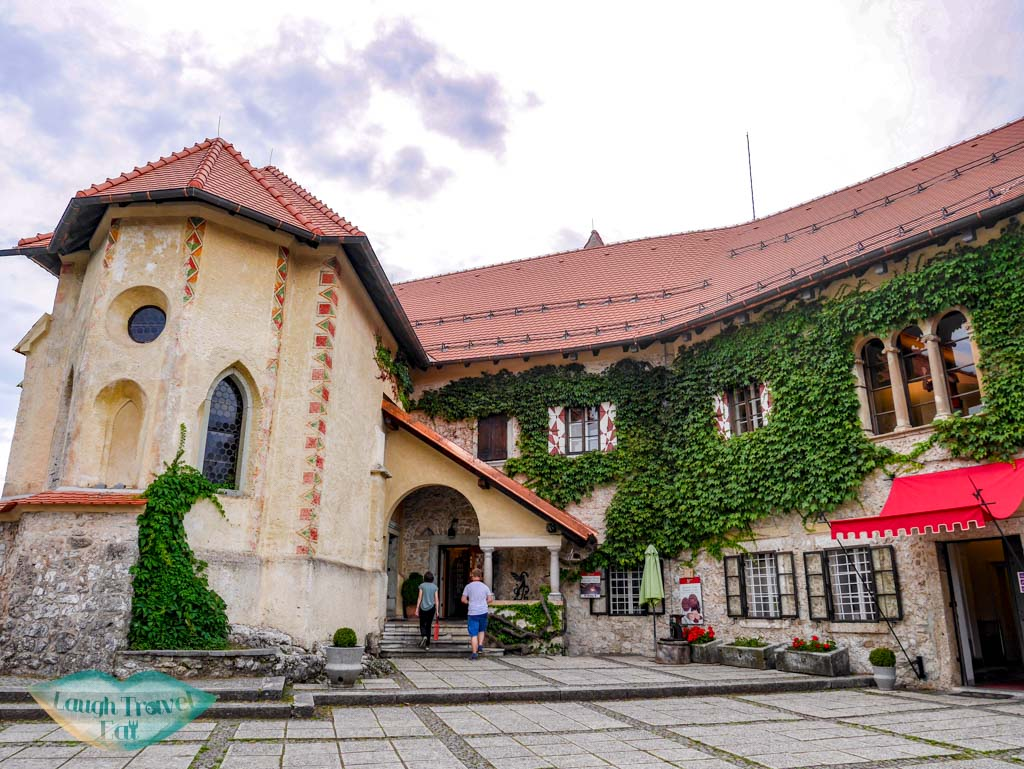 Exterior view of the Bled Castle in Slovenia | Laugh Travel Eat