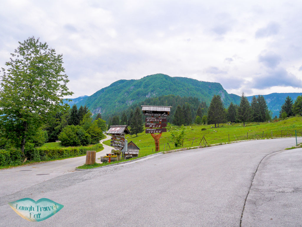 cycling on road in bohinj slovenia - laugh travel eat