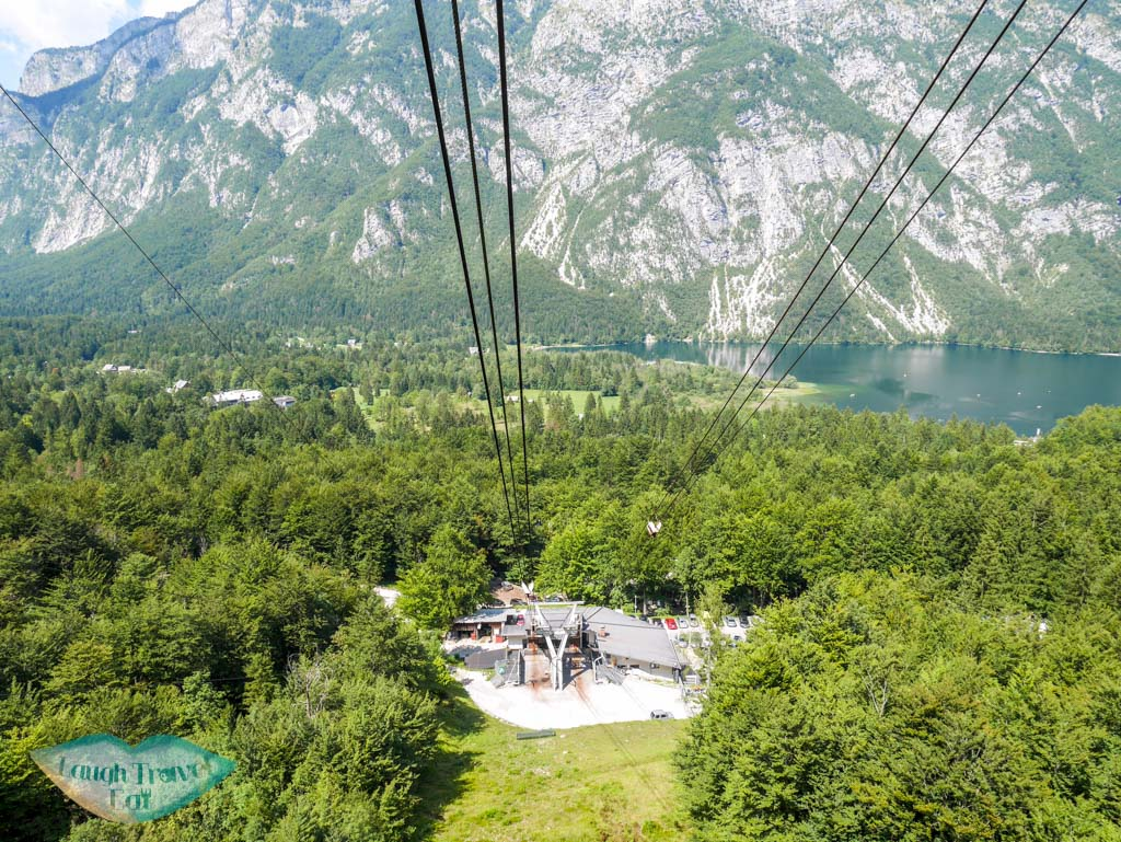 vogel cable car station at the bottom bohinj slovenia - laugh travel eat