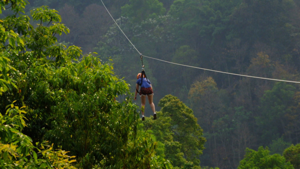 Final 900m zip line at Skyline Adventure, Chiang Mai | Laugh Travel Eat