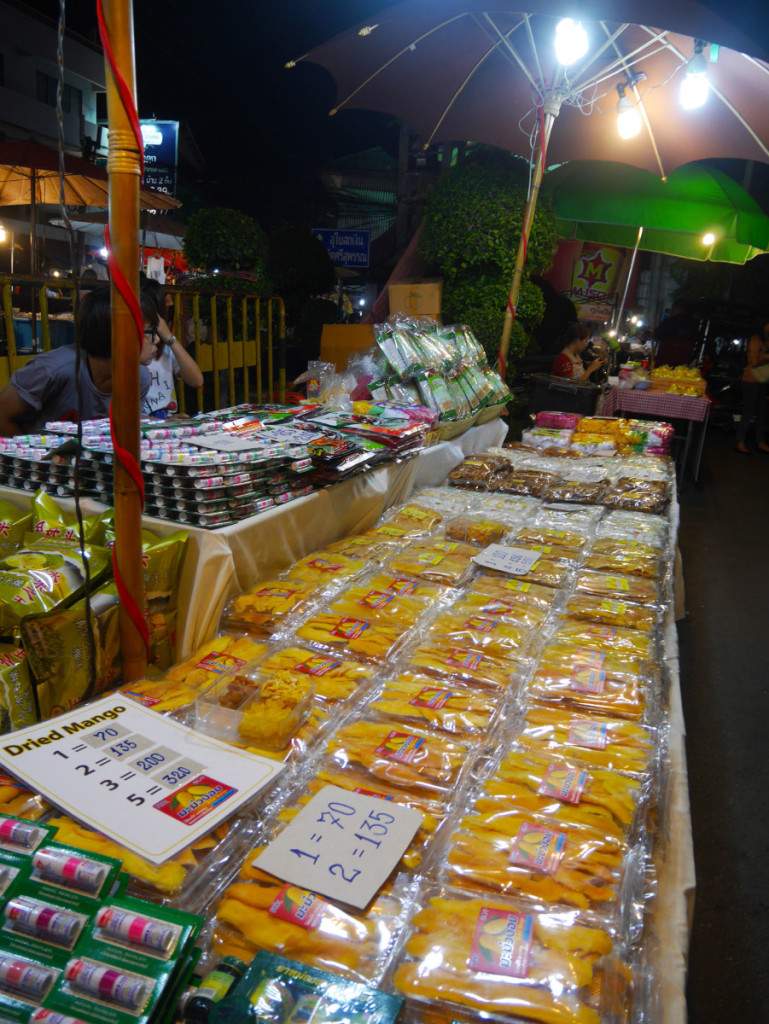 Thai dried mango at Chiang Mai's Saturday Night Market | Laugh Travel Eat