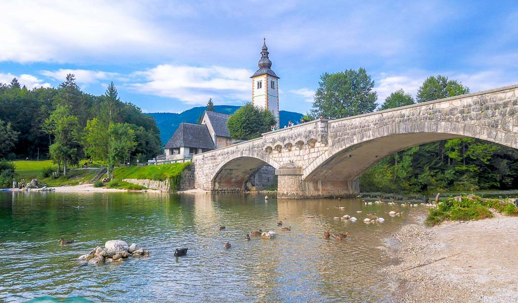 Ribec Lav bridge Lake Bohinj, Bohinj region, Slovenia - Laugh Travel Eat
