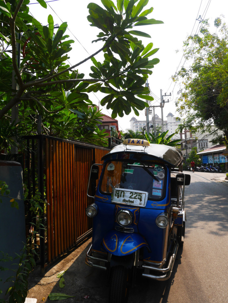 small tuk tuk on road side at Chiang Mai | Laugh Travel Eat