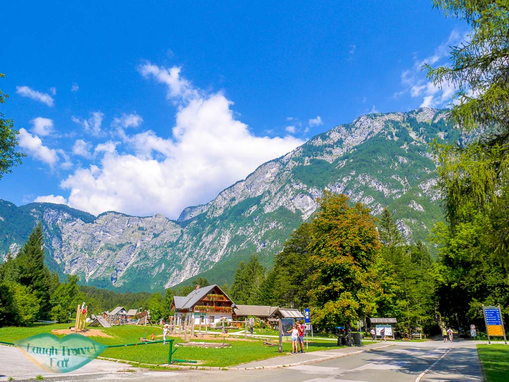 The small town of Ukanc on the west bank of Lake Bohinj, Bohinj region, Slovenia - Laugh Travel Eat