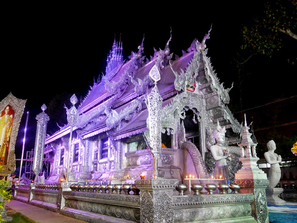 Wat Sri Suphan at night, Chiang Mai, Thailand | Laugh Travel Eat