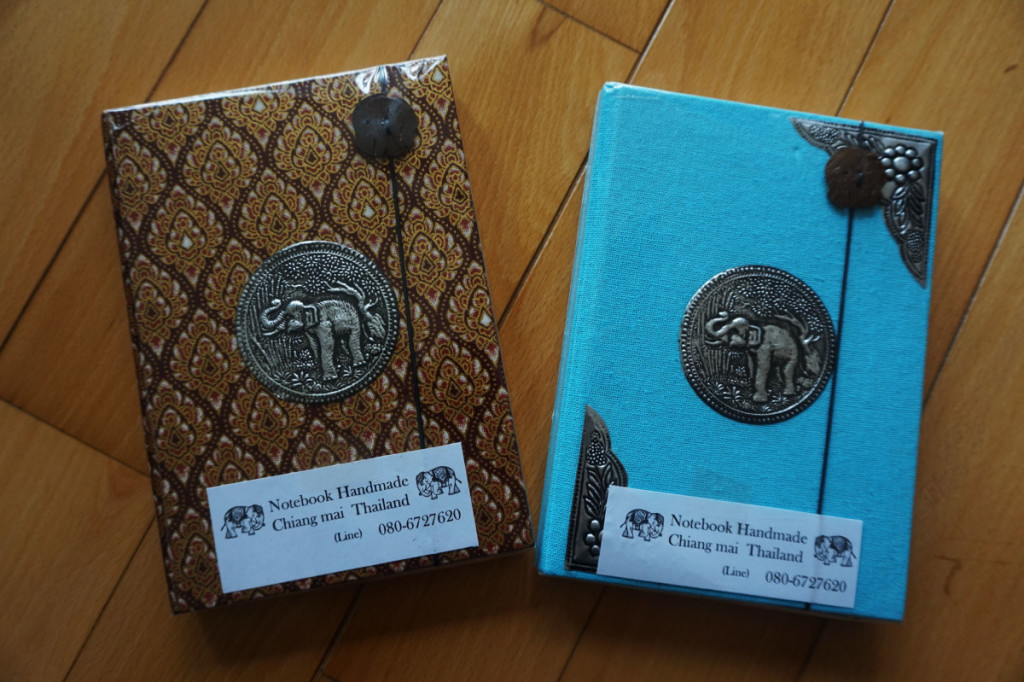 Decorated lined notebooks purchased at Chiang Mai | Laugh Travel Eat