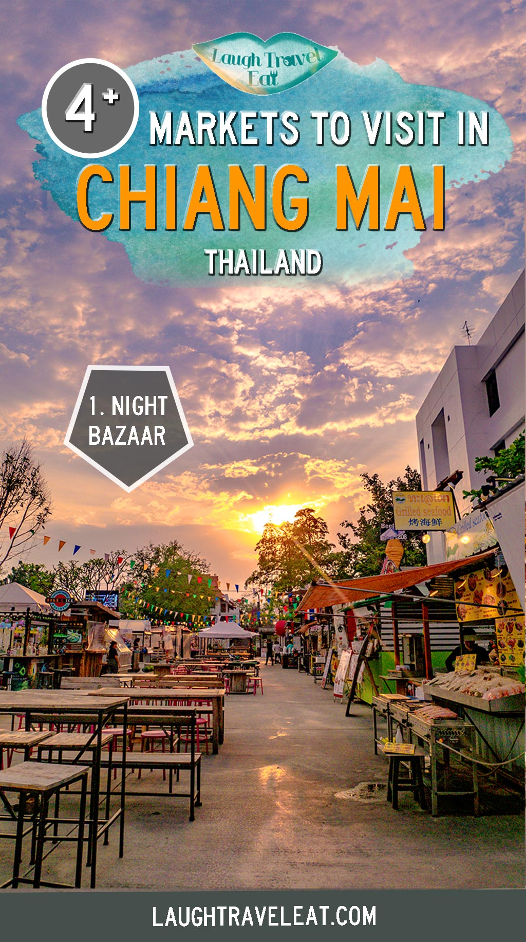 Chiang Mai is full of markets. Short of time, I visited the Night Bazaar, Warorot market, the Saturday Night Market, and Sunday Night Market. Here's what to see and how to get to these markets: #ChiangMai #Market #Thailand