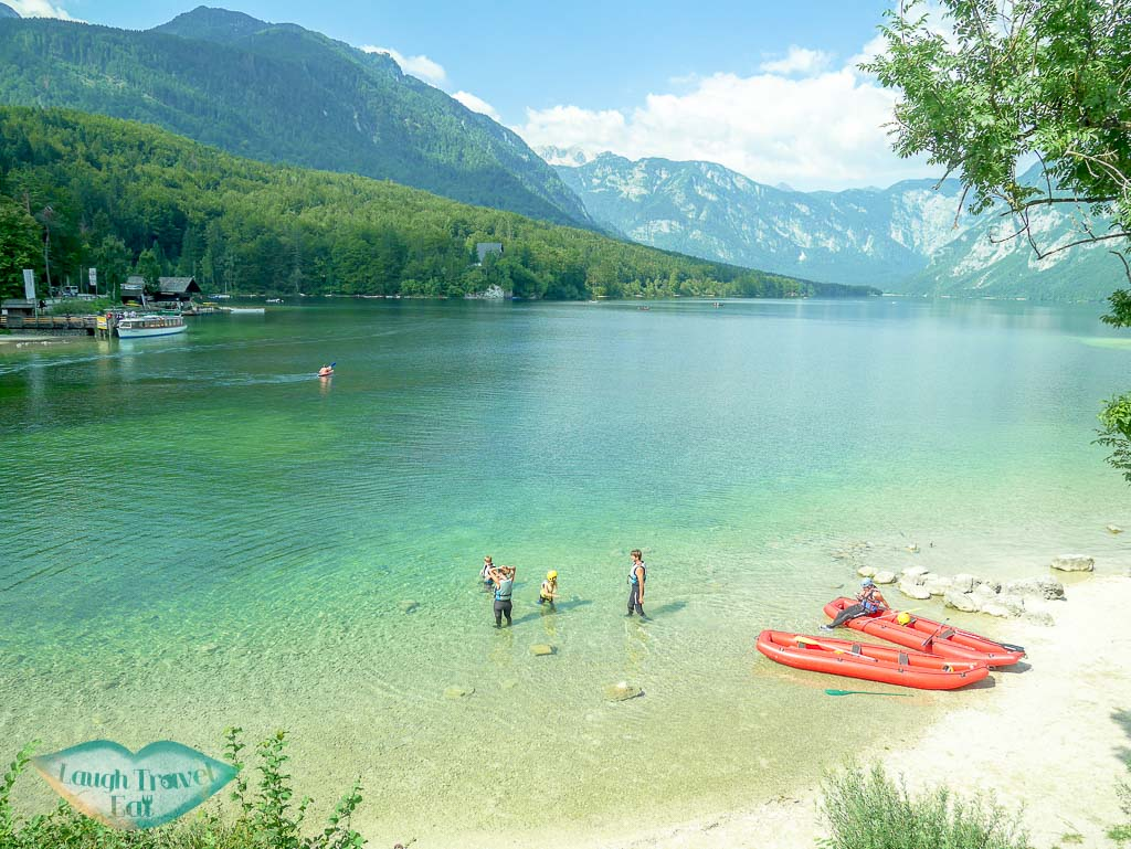 east bank of lake bohinj slovenia - laugh travel eat