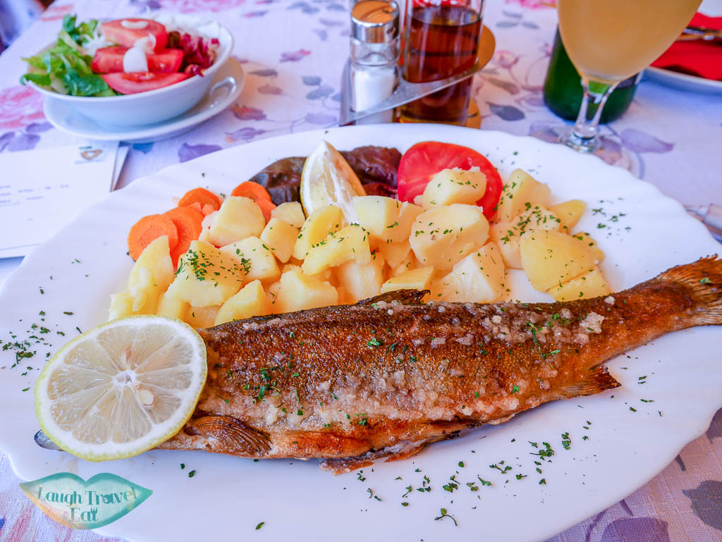 fresh trout at Ribcev Laz bohinj region slovenia - laugh travel eat