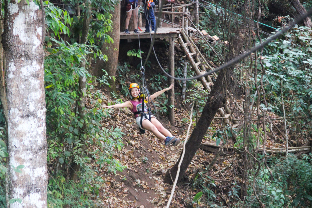 Happy zipping at Skyline Adventure | Laugh Travel Eat