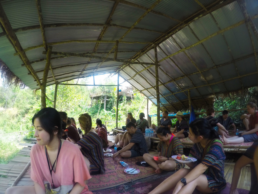 Lunch hut at Elephant Jungle Santuary | Laugh Travel Eat