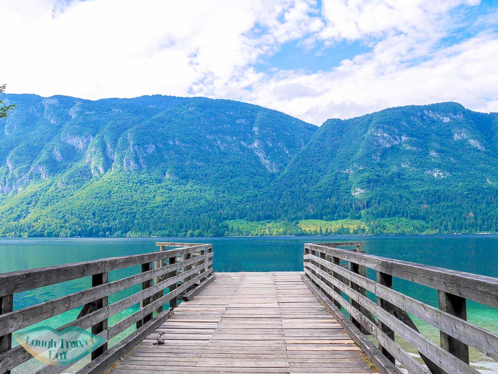 south bank pier of Lake Bohinj, Bohinj region, Slovenia - Laugh Travel Eat