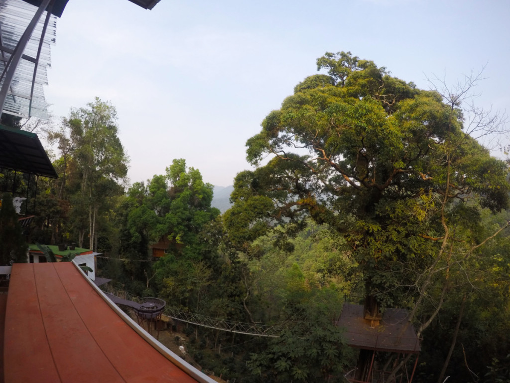 View from lunch area at Skyline Adventure, Chiang Mai | Laugh Travel Eat