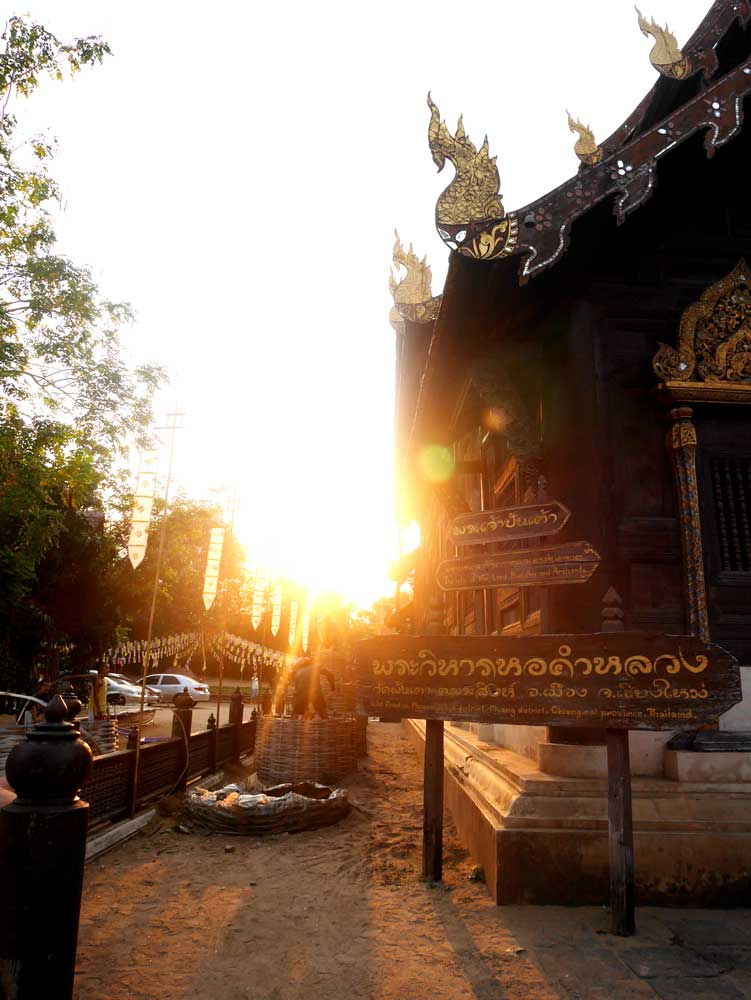 Wat Pan Tao at sun set, Chiang Mai, Thailand | Laugh Travel Eat