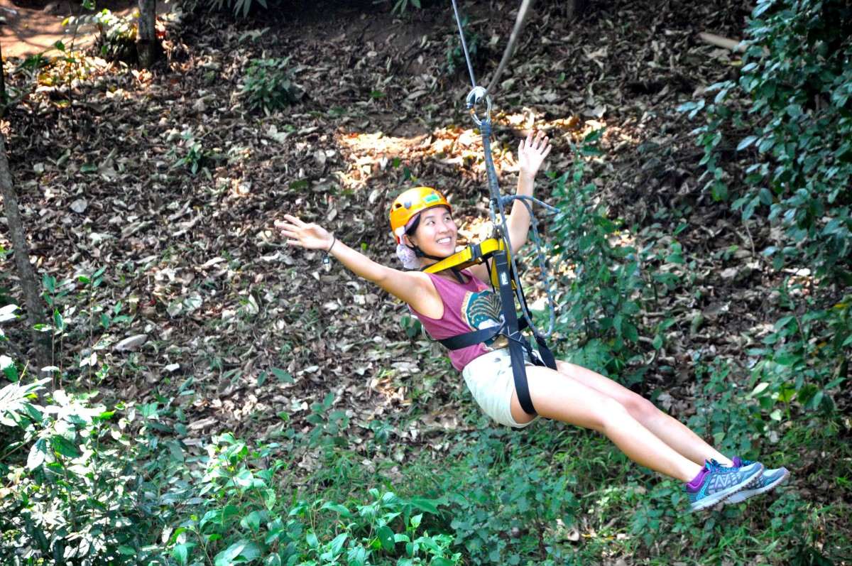 zip lining at Skyline Adventure, Chiang Mail | Laugh Travel Eat