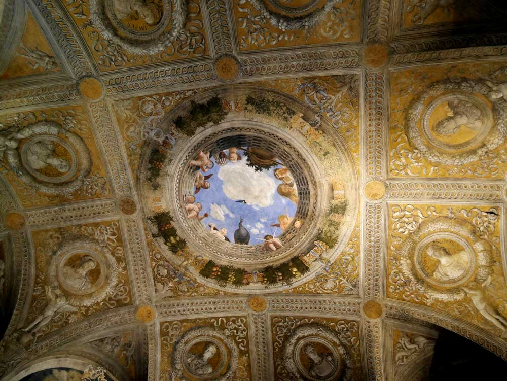 Parthenon Camera degli Sposi fresco, Castle of St George, Ducal Palace, Mantua, Italy | Laugh Travel Eat