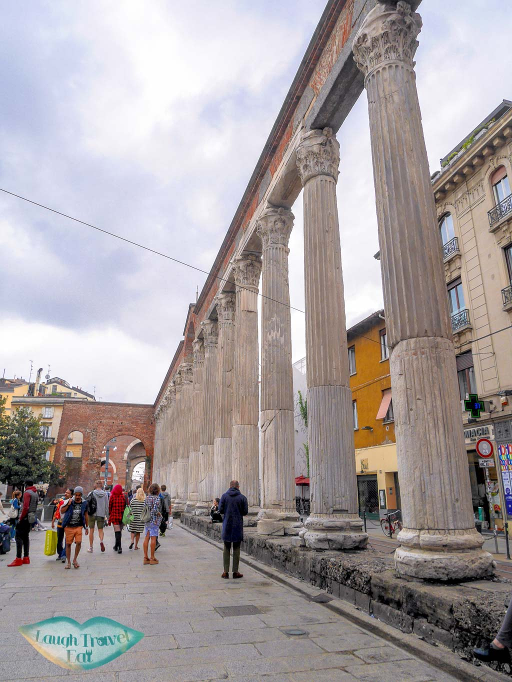 Columns of San Lorenzo, Milan, Italy - Laugh Travel Eat