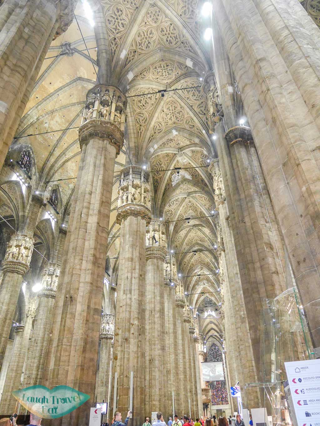 Interior of Duomo, Duomo di Milano, Milan, Italy - Laugh Travel Eat