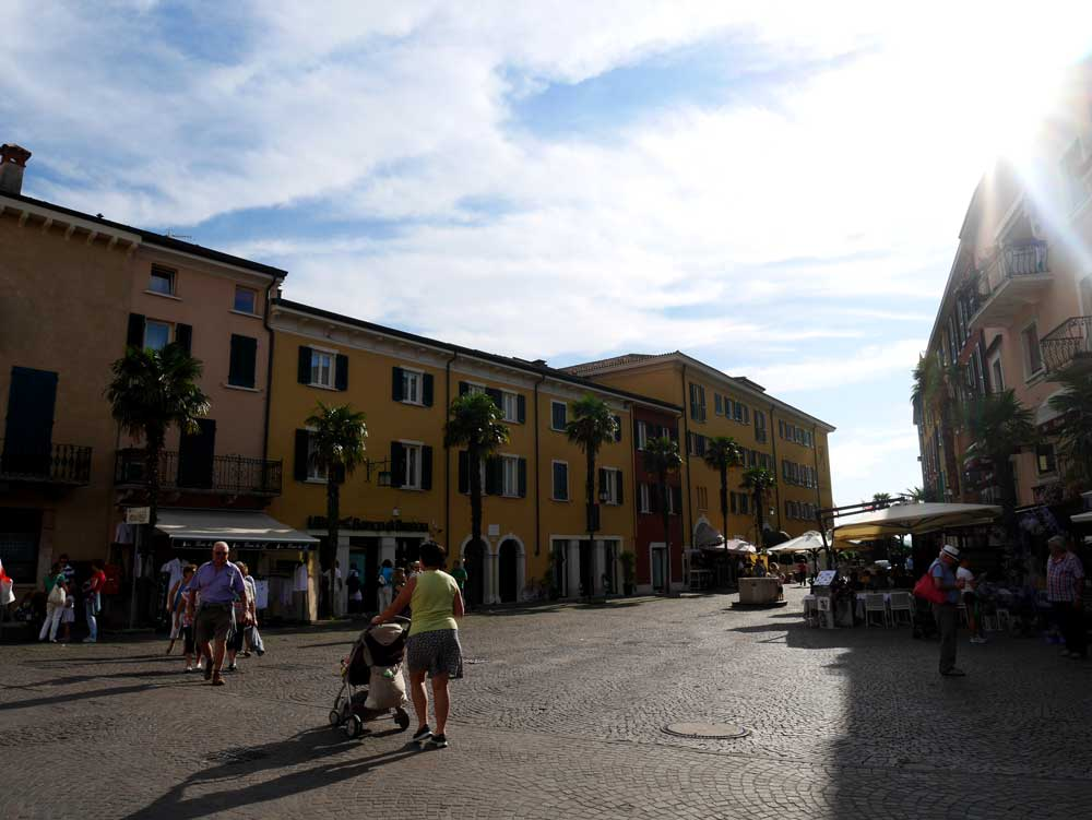 A square inside the old town of Sirmione, Lake Garda, Italy   Laugh Travel Eat