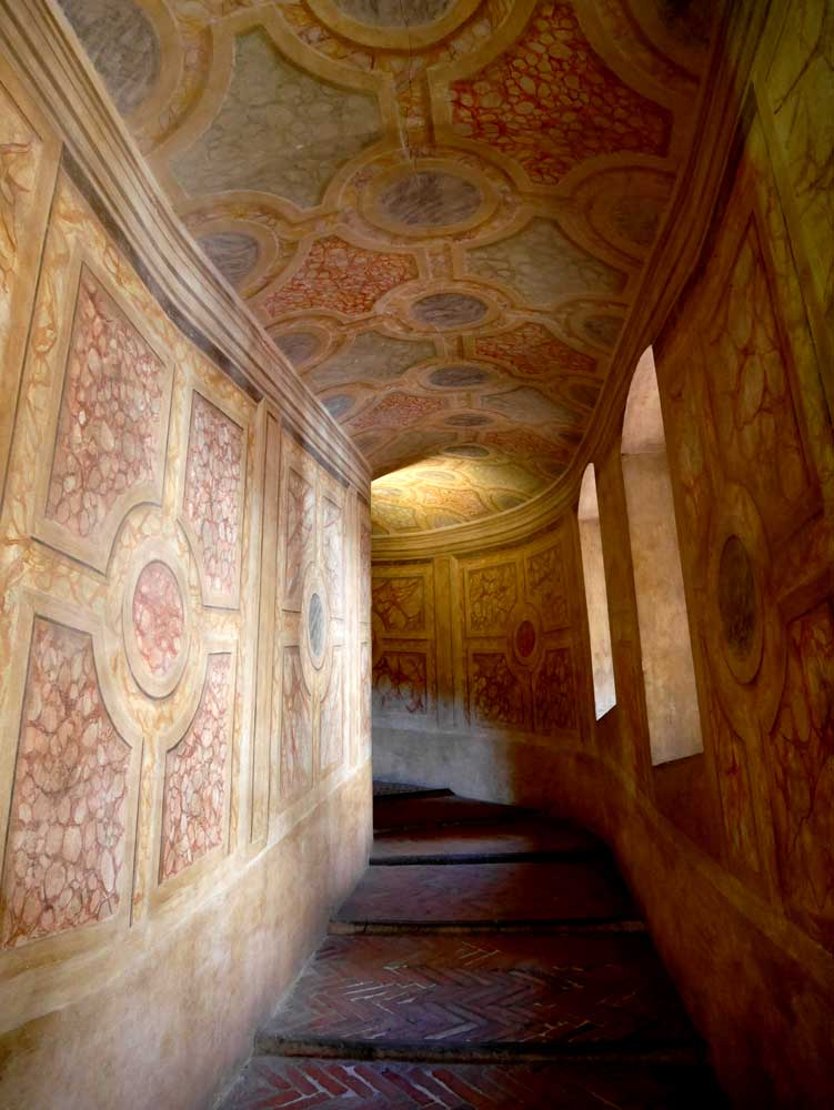 Staircase of Castle of St George, Mantua, Italy | Laugh Travel Eat