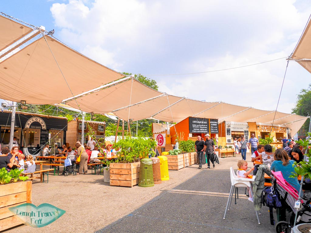 food court on Mercato Metropolitano, Milan, Italy - Laugh Travel Eat