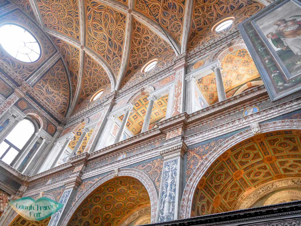 galleries at San Maurizio Monastero Maggiore, Milan, Italy - Laugh Travel Eat