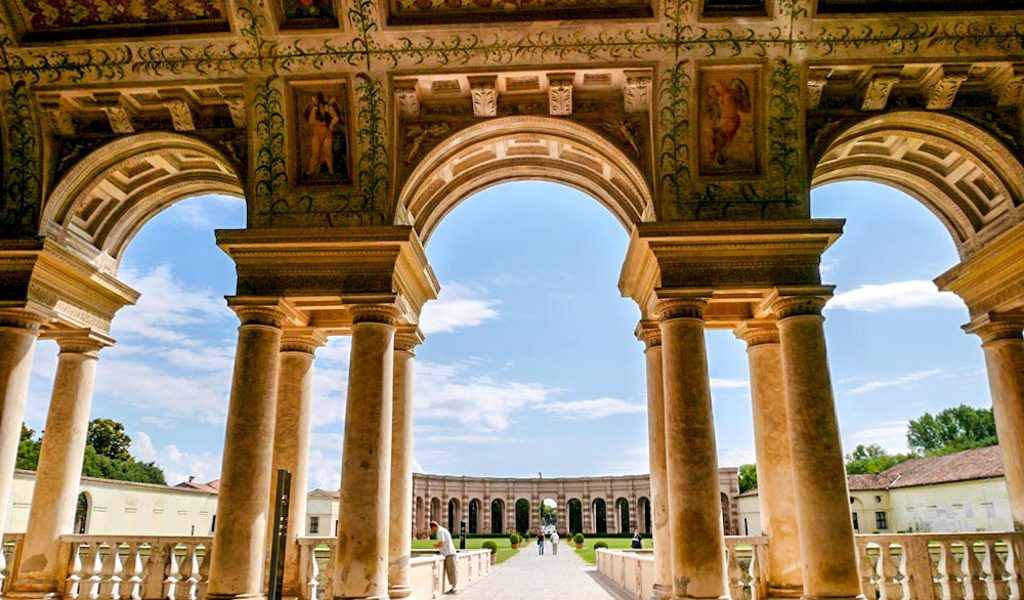The beautiful loggia at the Palazzo Te, Mantua, Italy | Laugh Travel Eat
