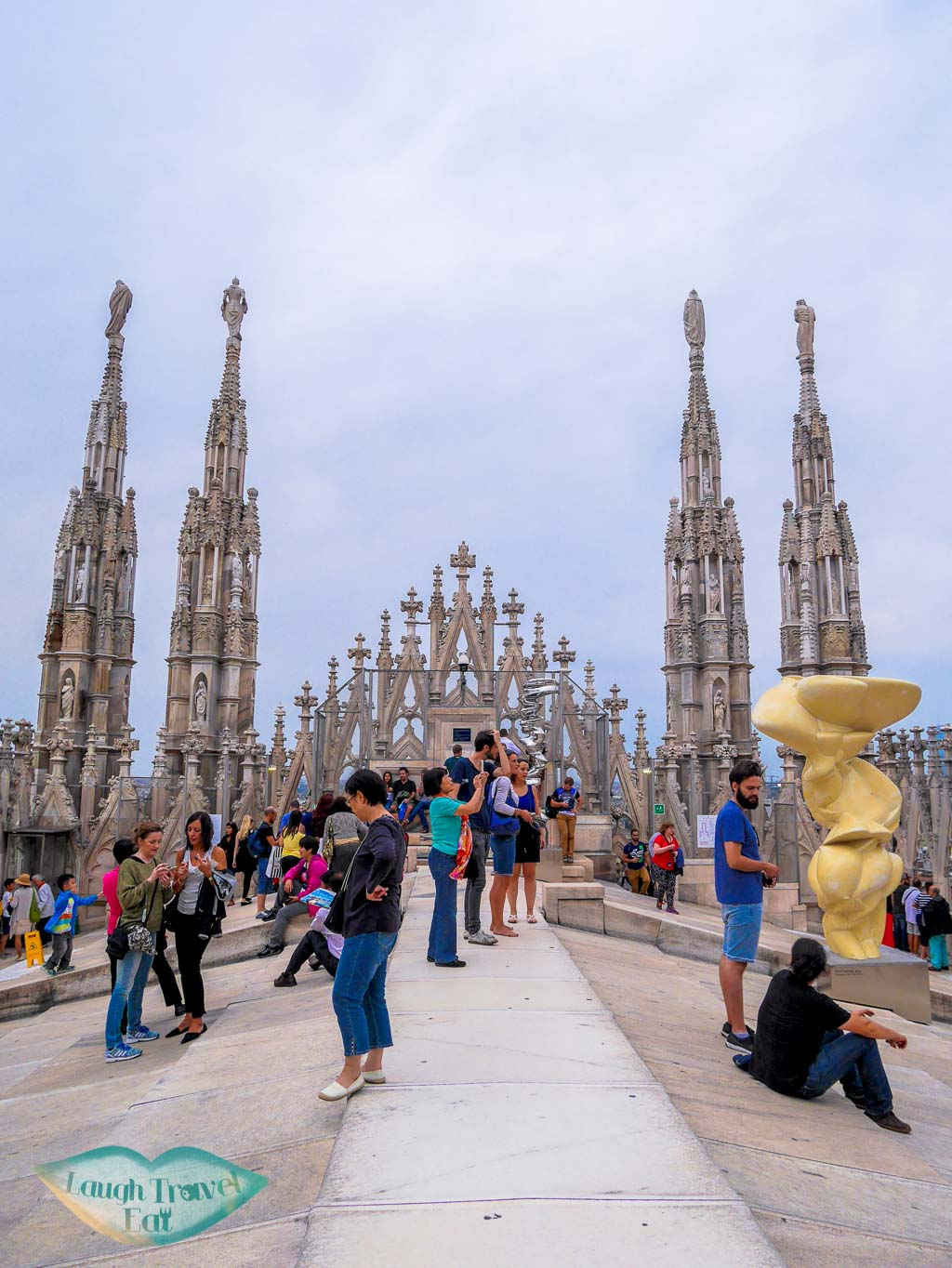 on top of the DUomo roof, Duomo di Milano, Milan, Italy - Laugh Travel Eat