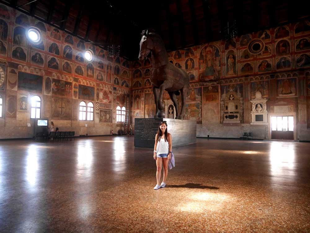 Interior of the Great Hall of Palazzo della Ragione, Padua, Veneto, Italy | Laugh Travel Eat